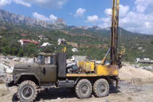 Буровые работы в районе Южного Берега Крыма